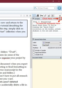 How to Auto-fill the Synopsis in Scrivener for Windows