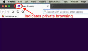 private browsing in Firefox for Mac