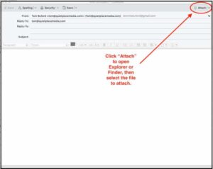 Send files with email in Thunderbird