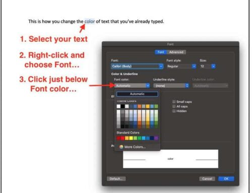 2 Ways to Quickly Change Text Color in Word and LibreOffice