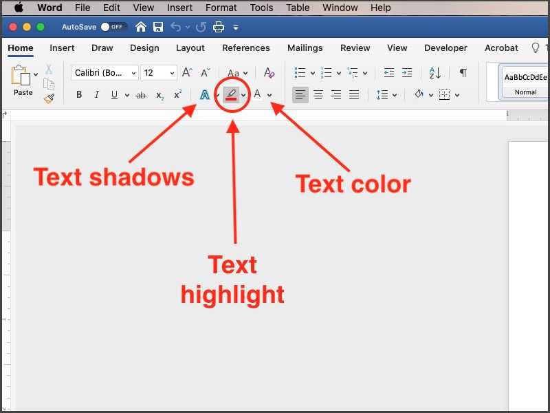 change text color in microsoft word