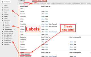 create new label in Gmail for desktops